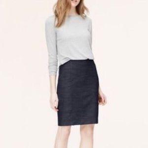 Loft | 🌺Dark Chambray Wash Pencil Skirt